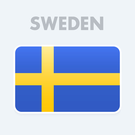 european culture: Sweden Flag vector illustration