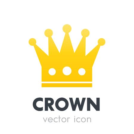 crown logo element, vector icon on white Illustration