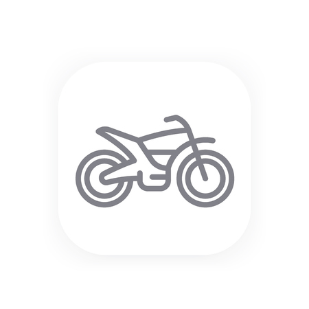 An off road bike line icon, motorcycle vector pictograph