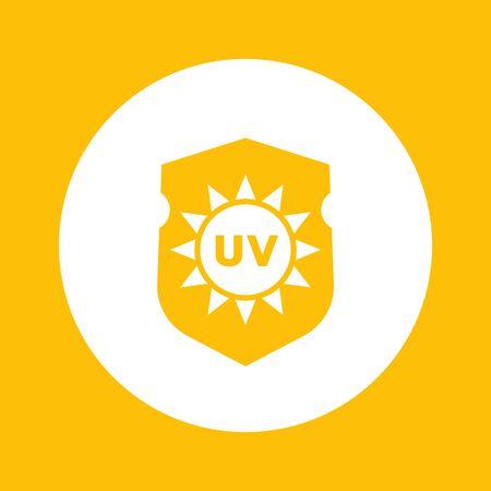 sun block: UV protection icon Illustration