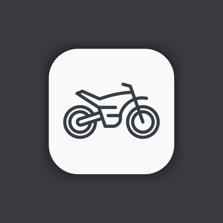 supercross: offroad bike, motorcycle line icon