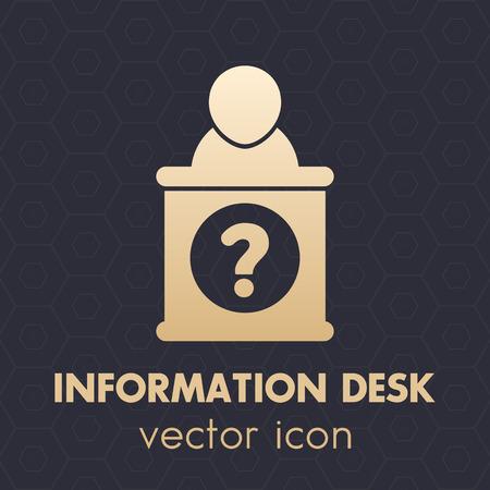 information symbol: information desk icon, info support symbol