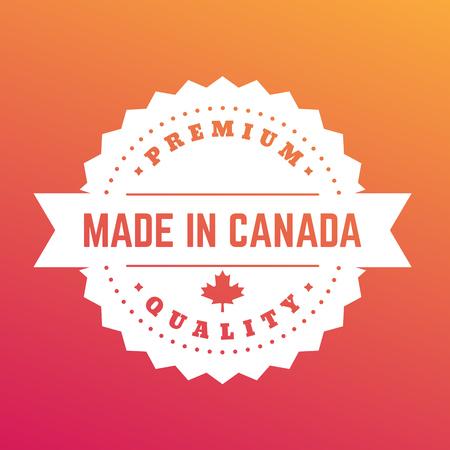 Made in Canada, badge, sign, emblem, label, vector illustration