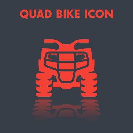 icono de bicicleta quad, vehículo todo terreno, pictograma de vector ATV