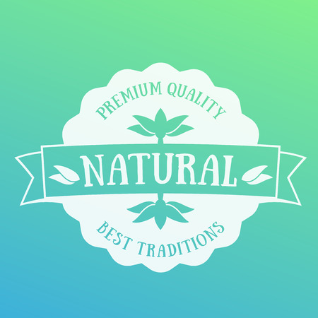 Natural Product emblem, badge, label