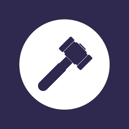 hammer, sledgehammer icon on white