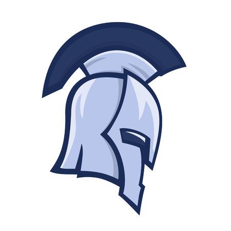 spartan helmet, greek warrior, logo element over white