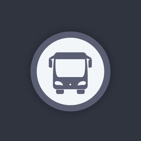 schoolbus: Bus icon, front view