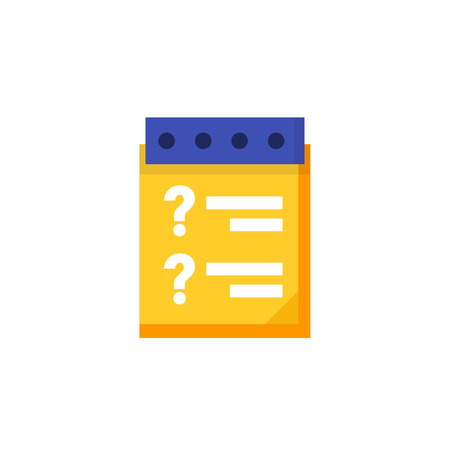 inquiry: inquiry icon in flat style Illustration