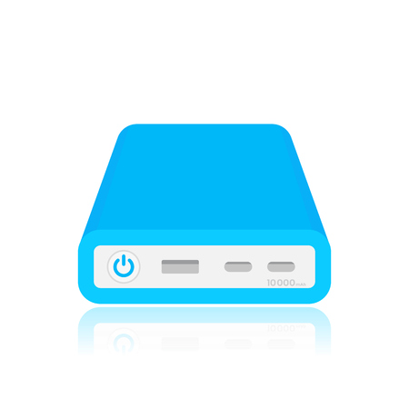 handheld device: power bank vector illustration