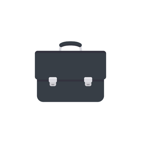 detachment: business briefcase icon, black leather