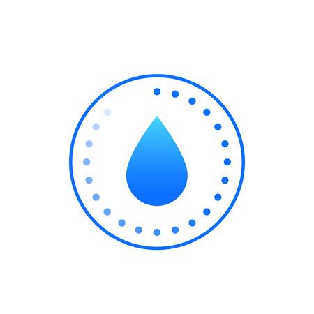 Icono de humedad, signo de vector