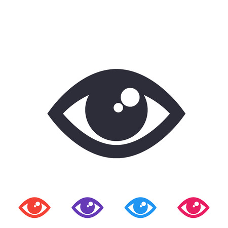 eye icon, vector symbol Illustration