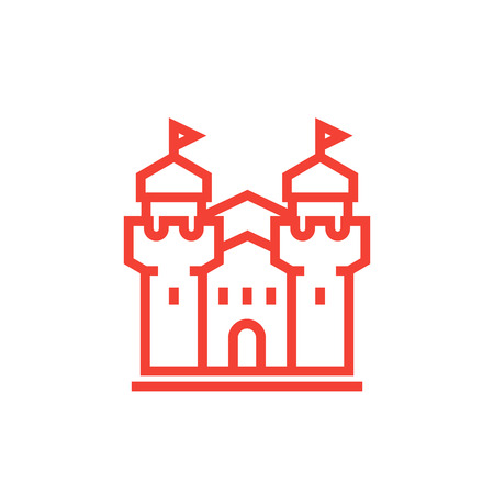 castle, fortress icon Illustration