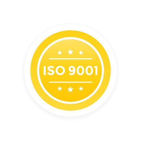 ISO 9001 vector label Ilustração