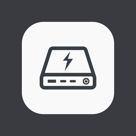 handheld device: power bank icon, portable charging device Illustration