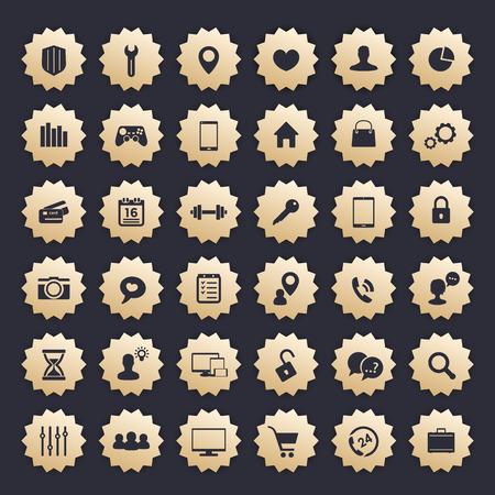 36 Icons für Web, Apps und andere Projekte Vektorgrafik