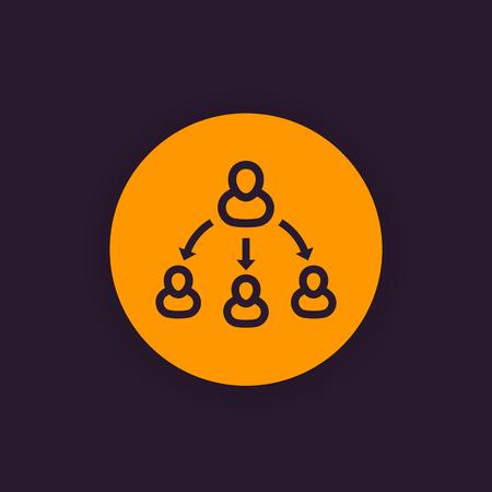 delegation icon, vector symbol Illustration
