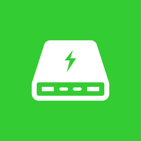 handheld device: power bank, portable charger icon