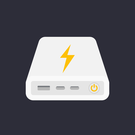 power bank, portable charger vector illustration