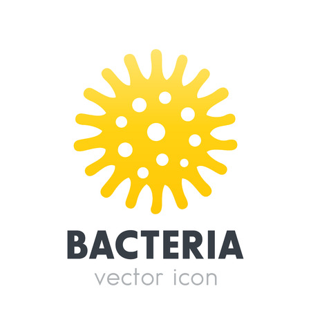 bacteria, microbe icon isolated on white