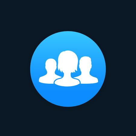 Team icon, vector Illustration