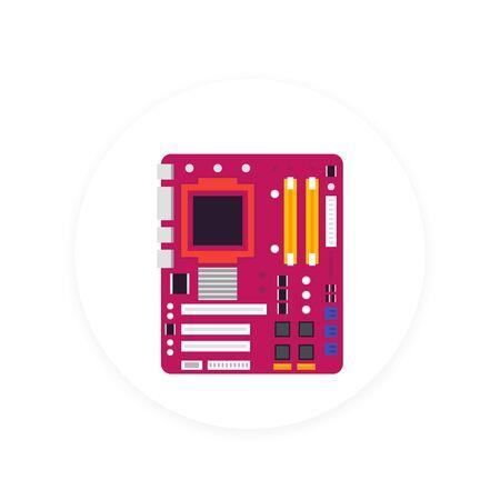 motherboard vector icon Illustration