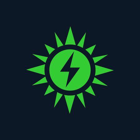 solar energy vector icon