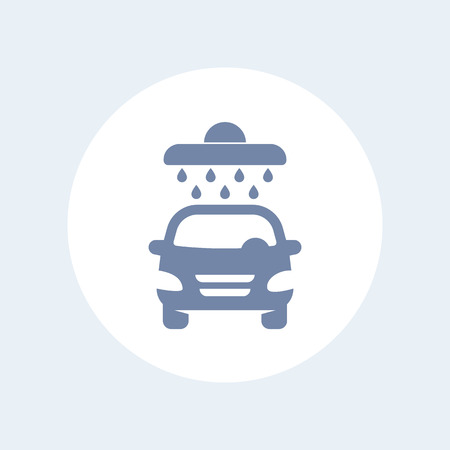 car isolated: car wash icon isolated on white Illustration