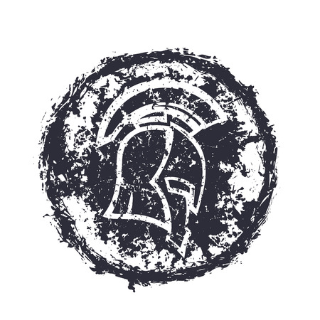 grunge spartan helmet, t-shirt print