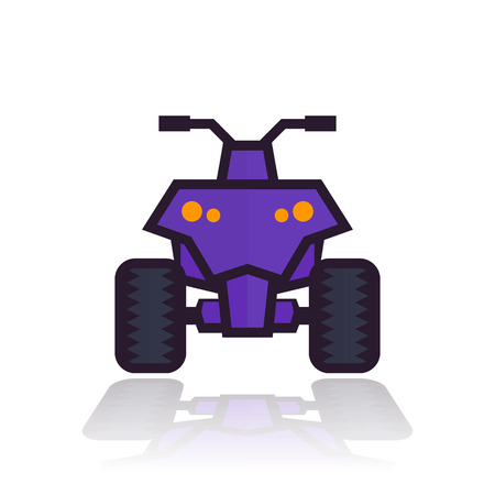 quad bike icon Illustration
