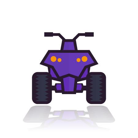 quad bike icon Illustration