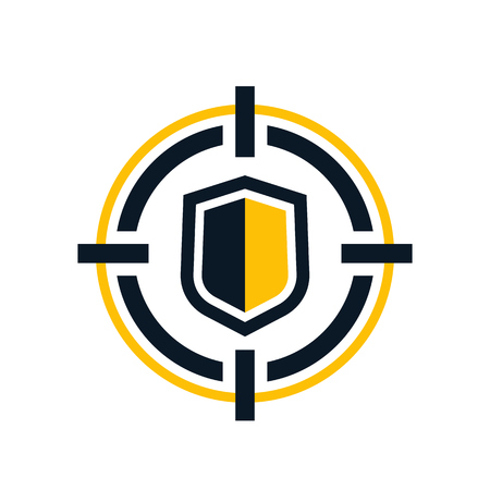 Cybersecurity vector icon Stock Illustratie