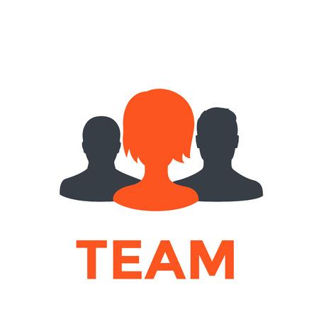 Team icon, vector pictogram