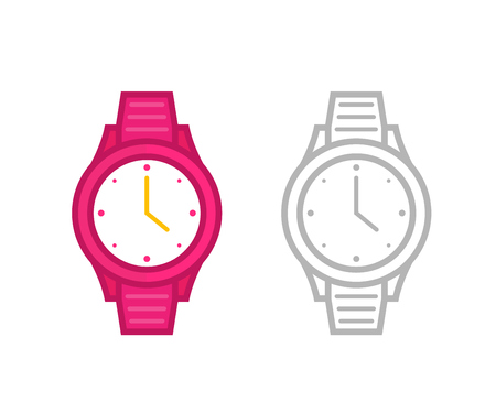 watch icon, vector illustration