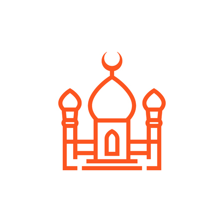 mosque icon in linear style Illustration