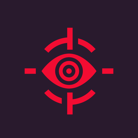 viewer: retina scan icon, biometric recognition