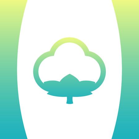 boll: cotton icon, outline, logo mark