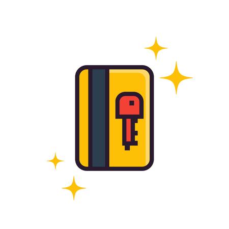 electronic pass, card key icon