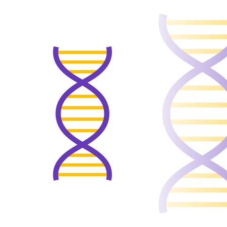 alteration: dna strand icon, linear style