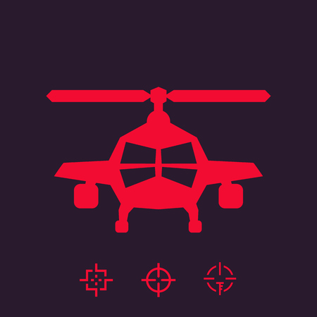 combat helicopter vector sign