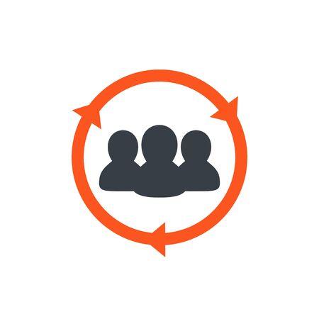 Staff rotation icon