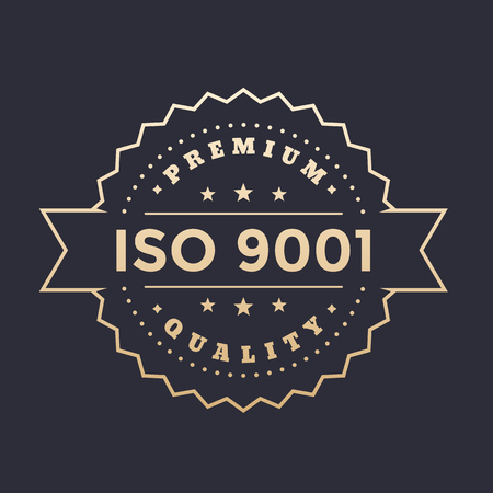 ISO 9001 vector badge Illustration