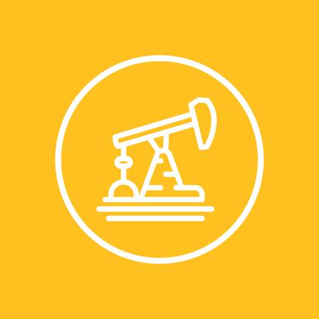 Oil pump line icon in circle