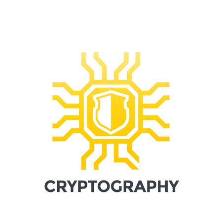 cryptography icon on white