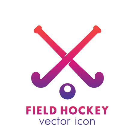 Field hockey icon, logo element over white