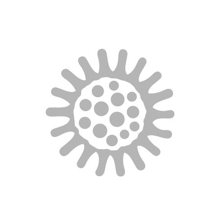 bacteria icon on white Illustration