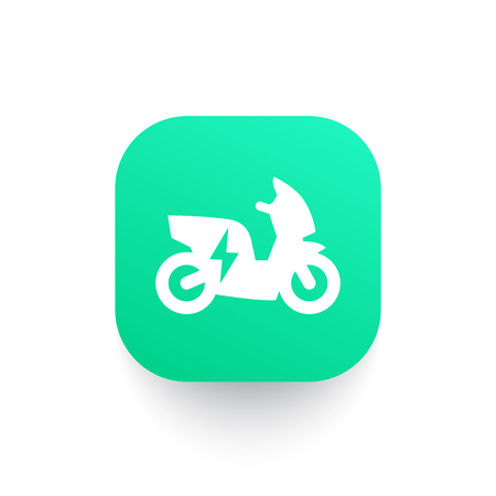 electric scooter, motorbike vector icon