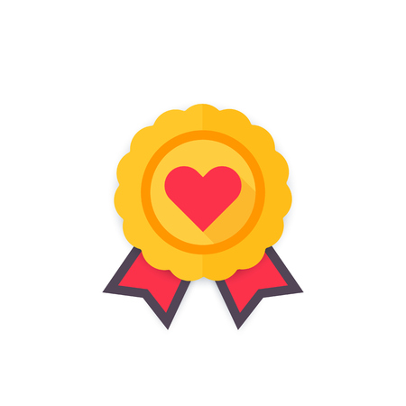 likes: medal for likes icon, vector badge
