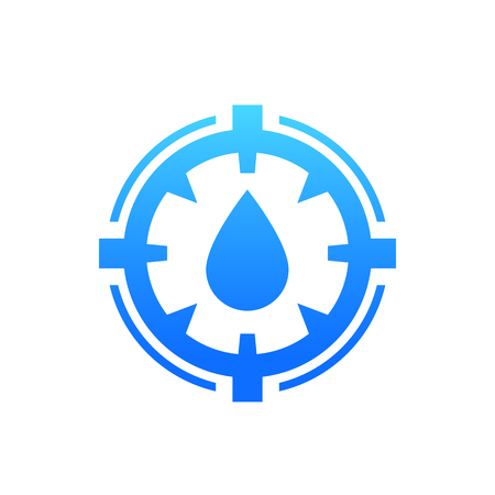 humidity icon, vector sign with water drop Illustration